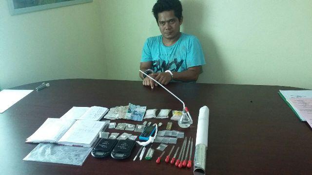 F-Pelaku pemakai Narkoba jenis Shabu saat diamankan di Mapolres Merangin.