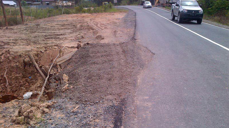 Permalink ke Gawat…Baru Dibangun, Jalan Nasional Penghubung Tungkal-Jambi di Tanjabbar Ambles