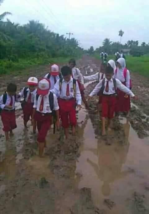 Permalink ke Jalan di Senyerang Hancur dan Berlumpur, Warga: Sudah Ada yang Mati Mungkin Baru Diperbaiki