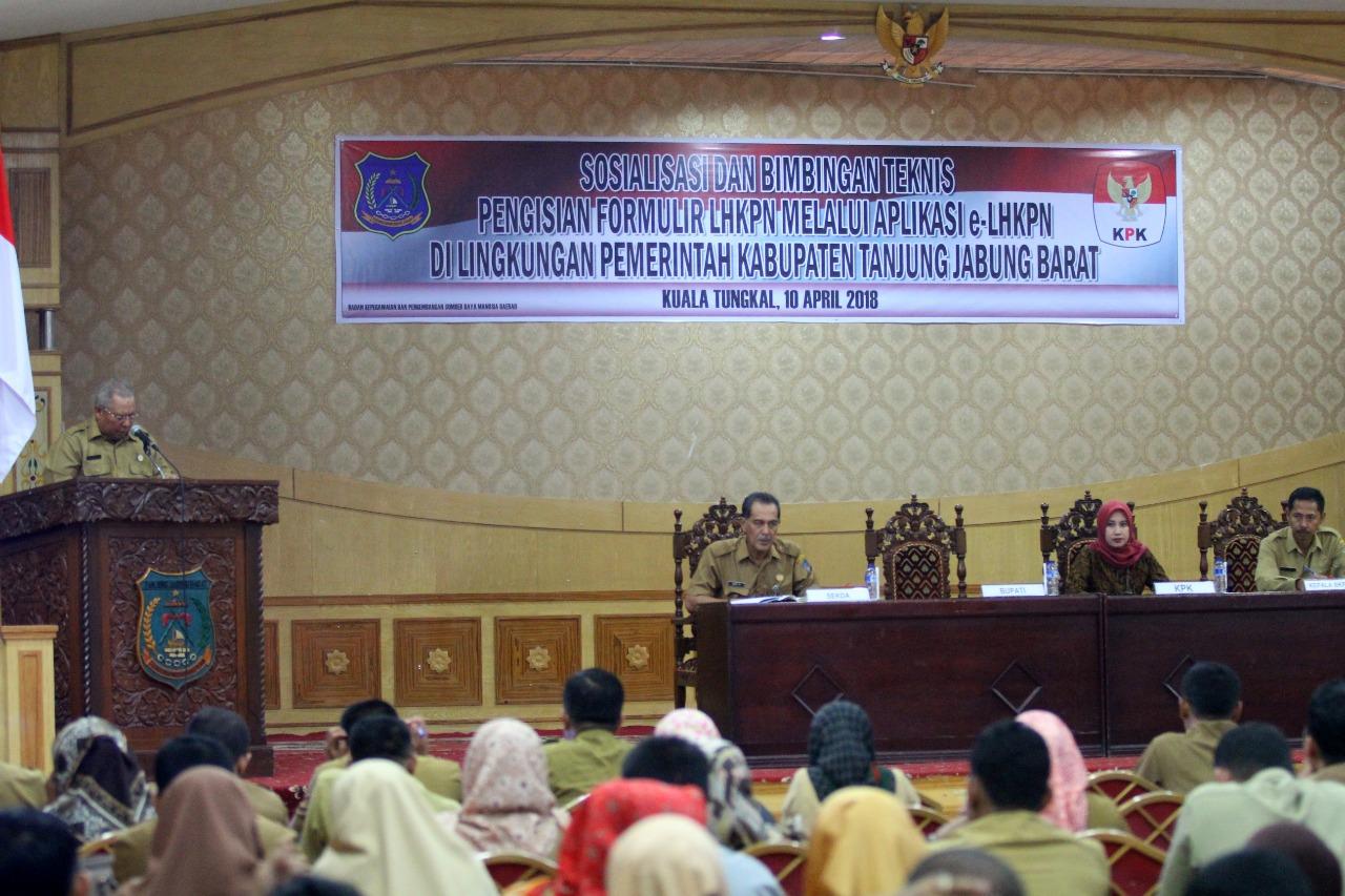 Permalink ke Pemkab Tanjabbar Buka Sosialisasi dan Bintek Pengisian E-LHKPN