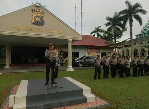 Permalink ke Kapolresta Jambi Pimpin Apel Persiapan Pengamanan Pilwako