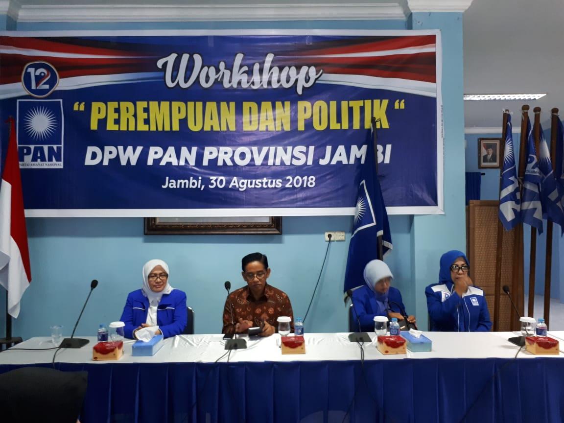 Permalink ke DPW PAN Provinsi Jambi Gelar Workshop Perempuan dan Politik
