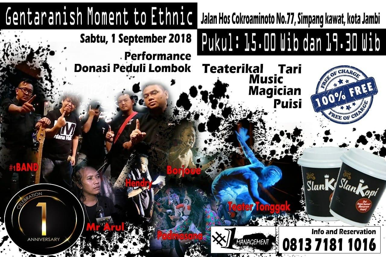 Permalink ke 'Gentaranish Moment To Ethnic' Tampilkan Kegiatan Seni dan Galang dana Peduli Lombok