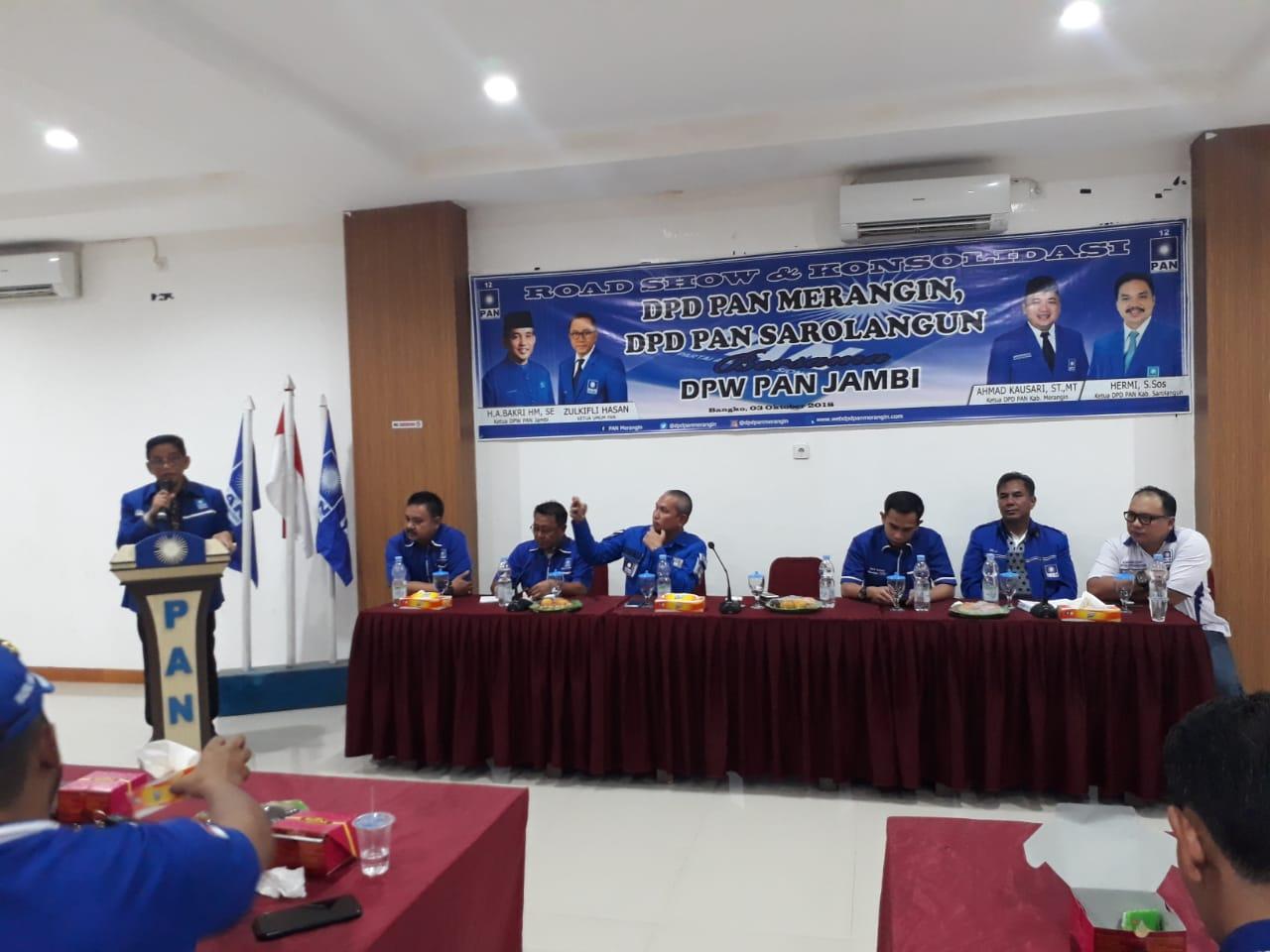 Permalink ke Road Show DPW PAN Provinsi Jambi Singgah Konsolidasi ke DPD PAN Merangin