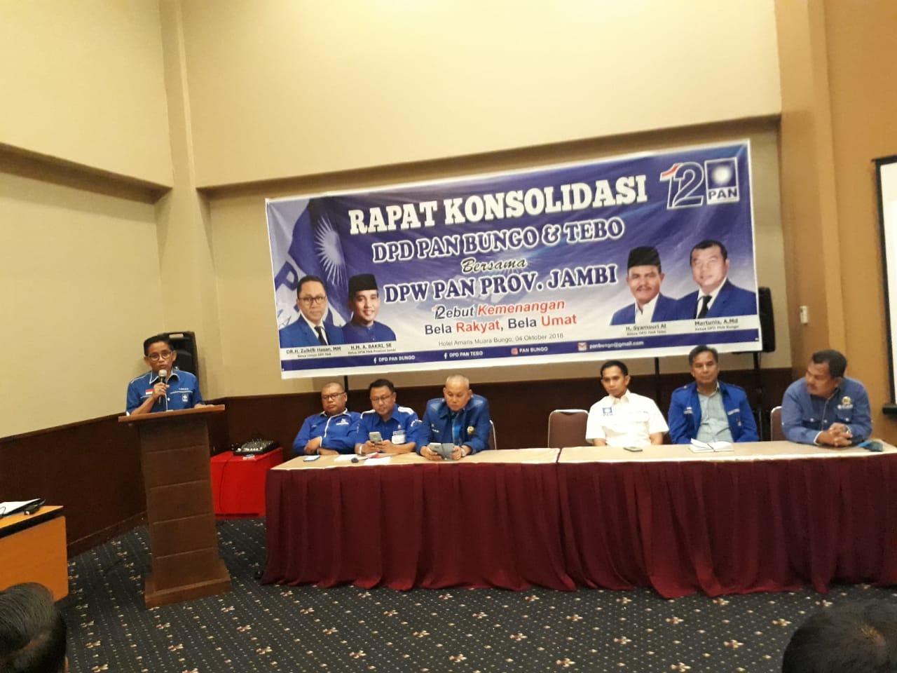 Permalink ke Road Show DPW PAN Jambi Singgah ke Bungo, Konsolidasi Bersama Caleg Turut Dihadiri Bupati Mashuri