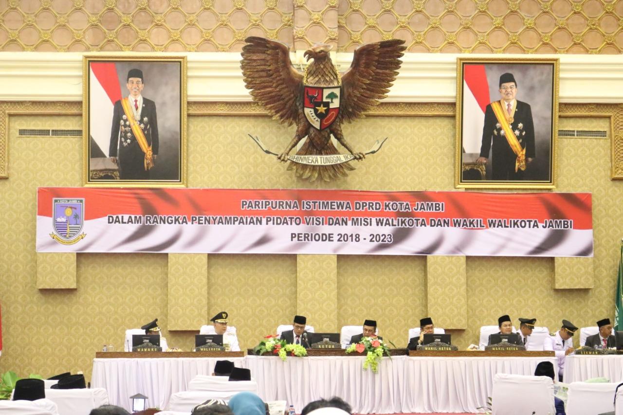 Permalink ke DPRD Kota Jambi Gelar Paripurna Istimewa Penyampaian Pidato visi dan misi Walikota dan Wakil Walikota Jambi Periode 2018-2023