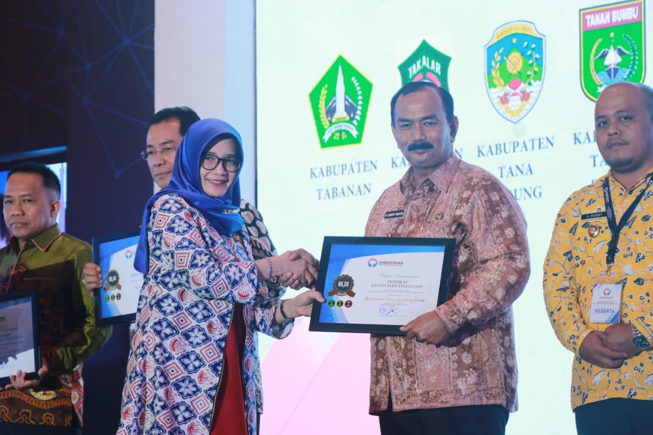 Permalink ke Pemkab Tanjab Barat Raih Penghargaan Bidang Pelayanan Publik dari Ombudsman RI