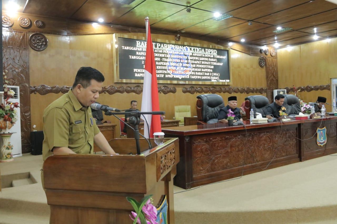 Permalink ke Rapat Ketiga, DPRD Buka Rapat Tanggapan Bupati Atas Pemandangan Umum Anggota dewan dan Raperda inisiatif