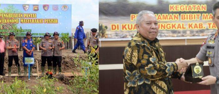 Bupati Safrial Bersama Kapolda Jambi Tanam Pohon Mangrove