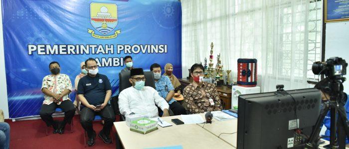 Pj.Sekda Hadiri Vicon Lomba Inovasi Daerah Penyiapan Tata Normal Baru