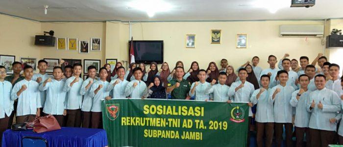 Ajenrem Jambi Terus Sosialisasikan Penerimaan Prajurit TNI AD