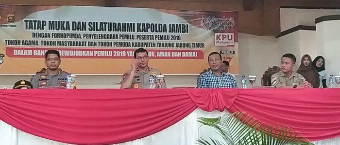 Wakapolda Jambi Tatap Muka dengan Elemen Masyarakat Tanjabtim