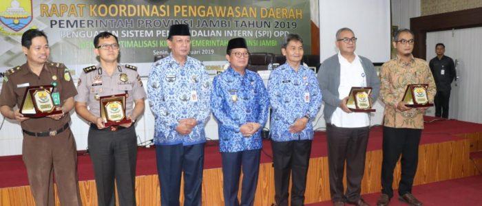 Wabup Tanjabar Hadiri Rakor Pengawasan Daerah Pemerintah Provinsi Jambi Tahun 2019