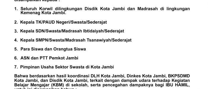 Besok TK, Paud, SD, SMP dan ASN/PTT Ibu Hamil Diliburkan