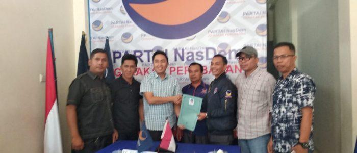 Bacawako Sungai Penuh Fikar Azami Mendaftar di Partai Nasdem