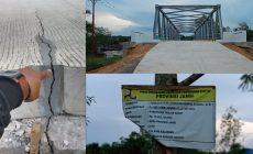 Permalink ke Baru Seumur Jagung, Oprit Jembatan 16 Milyar Sudah Patah