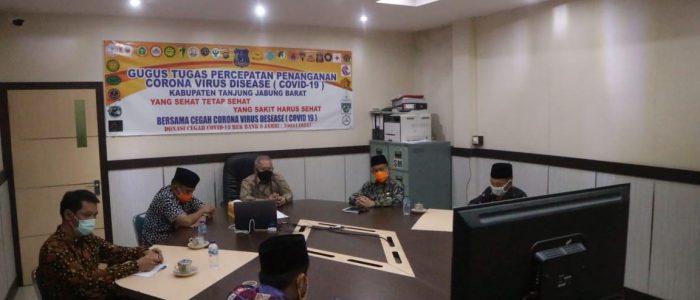 Bupati Safrial Ikuti Halal Bihalal Bersama Pemprov Jambi via Video Conference