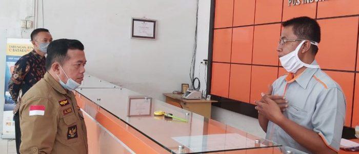 H. Al Haris Pantau Penyaluran BST Lewat Kantor Pos Bangko