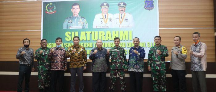 Bupati Tanjab Barat Sambut Kunjungan Kasdam II/Sriwijaya Palembang