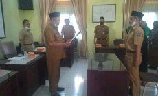 Permalink ke Bupati Syahirsah Diwakili Kepala Inspektorat Muchlis Lantik Pejabat P2UPD