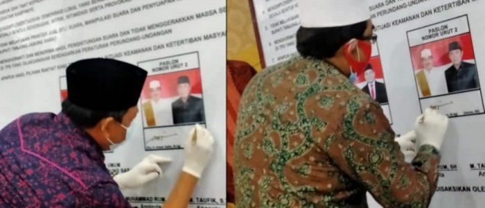 Calon Bupati dan Wabup Tanjab Barat Pasangan Anhar Ikuti Deklarasi Kampanye Damai