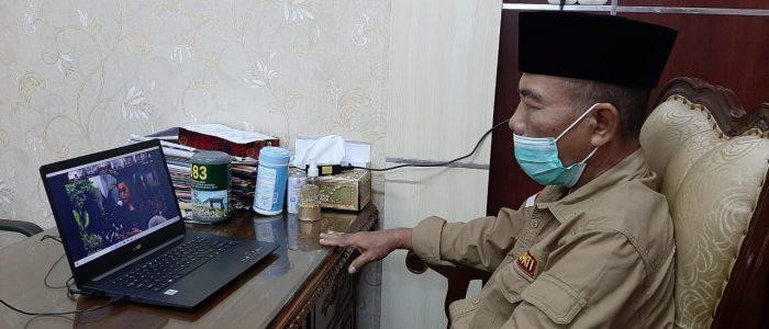 Plt. Bupati Merangin Ikuti Vidcom Penyerahan DIPA dan TKDD 2021
