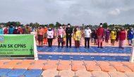 Permalink ke Sambil Berjemur, 137 CPNS Terima SK di Dermaga Apung Rest Area Danau Sipin Jambi