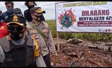 Permalink ke Kapolres Muaro Jambi Pimpin Patroli Cegah Karhutla di areal konsesi ex. HPH PT. Pesona Rimba Belantara Kec. Kumpeh Ilir.