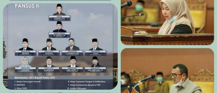 Pansus DPRD Tanjabtim Berikan Catatan Merata ke OPD terhadap LKPj Bupati 2020