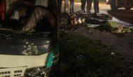 Permalink ke Laka Lantas Terjadi di Kelurahan Sridadi, Pengemudi dan Penumpang SPM Tewas Ditabrak Truk