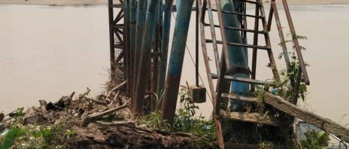 Kondisi Jembatan Intake PDAM Tirta Muarojambi Mengenaskan