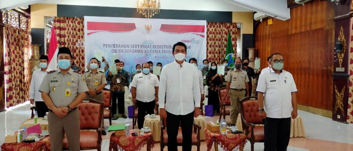 Bupati Batanghari Fadhil Ikuti Penyerahan Sertifikat Tanah Oleh Presiden RI Secara Virtual