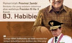 Permalink ke Gubernur Jambi Turut Berduka, BJ Habibie Wafat