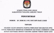 Permalink ke Pengumuman KPU Seleksi Calon PPK Kab Tanjab Timur