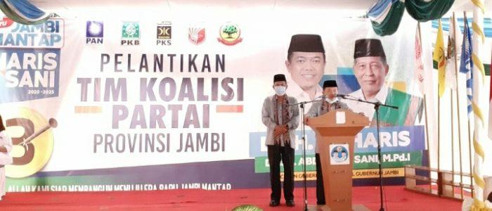 Kukuhkan Tim Koalisi dan Relawan se-Jambi, Haris-Sani Launching Foto Profil Seragam Nomor 3